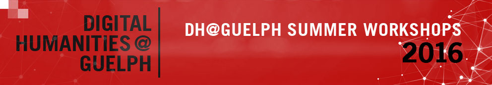 Digital Humanities at Guelph banner